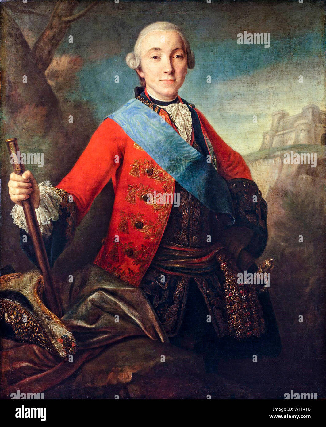 Fyodor Rokotov, Peter III, Emperor of Russia, 1728-1762, portrait painting, 1758 - Stock Image