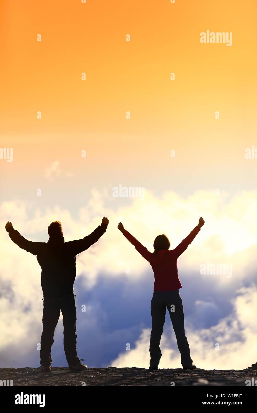 Acomplishment success, life achievement, goal accomplishment concept with
