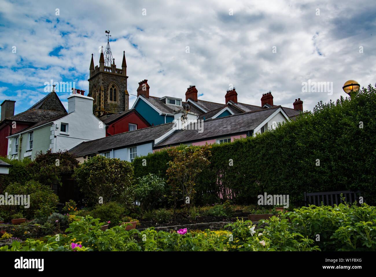 Sky-line at Aberaeron, Ceredigion,West Wales. UK - Stock Image