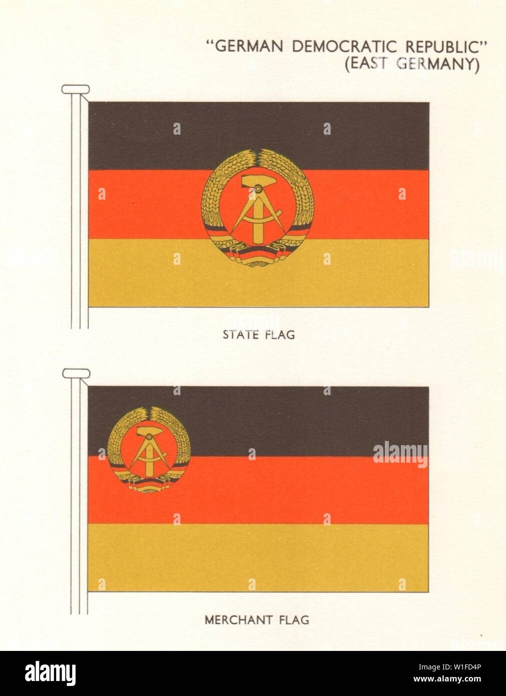 GERMAN DEMOCRATIC REPUBLIC FLAGS  East Germany  State Flag