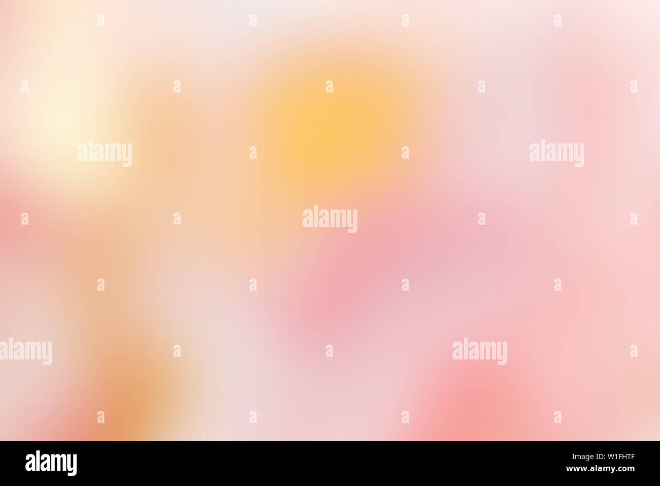 bright pink and yellow coloured abstract blurred background. Blurry abstract design. Pattern can be used as a background or for cards, invitations and - Stock Image