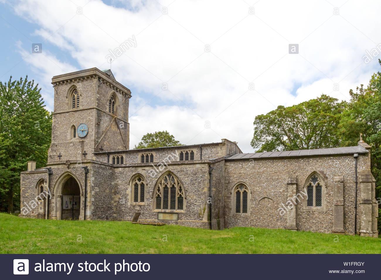 Bledlow Buckinghamshire - Holy Trinity Church, Bledlow village, Aylesbury Vale, Buckinghamshire UK - Stock Image