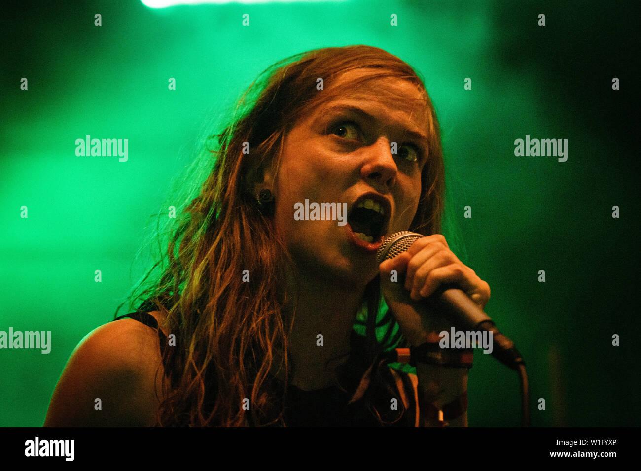 Roskilde, Denmark  July 1st, 2019  The Danish extreme metal