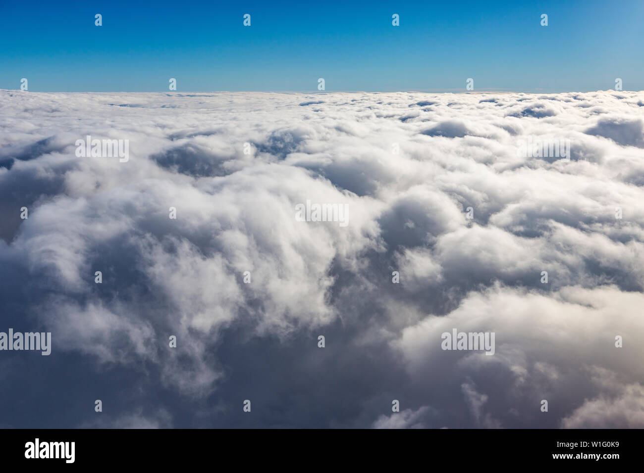 Clouds shortly before landing at svalbard, Artic, Norway - Stock Image