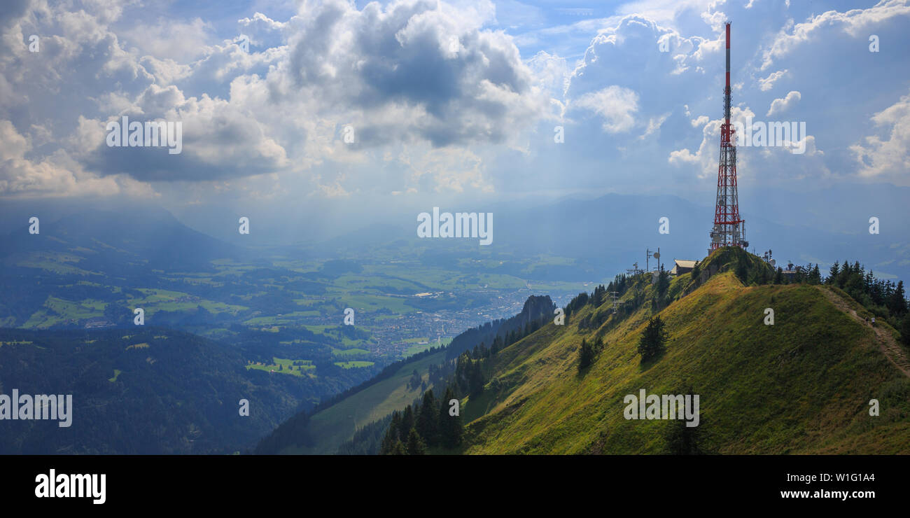 Grünten, Allgäu, Germany, mountain view Stock Photo