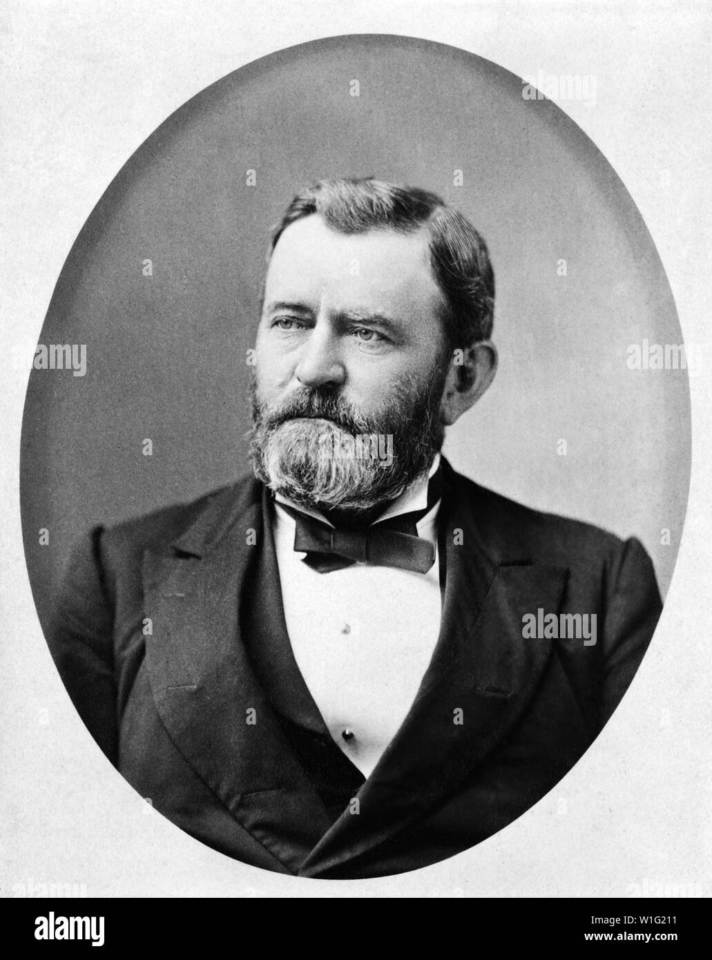 Ulysses S. Grant (1822-85), 18th President of the United States 1869-77,  General of Union Army during American Civil War, Head and Shoulders Portrait, Photograph by Theodore Lilienthal, 1880 - Stock Image