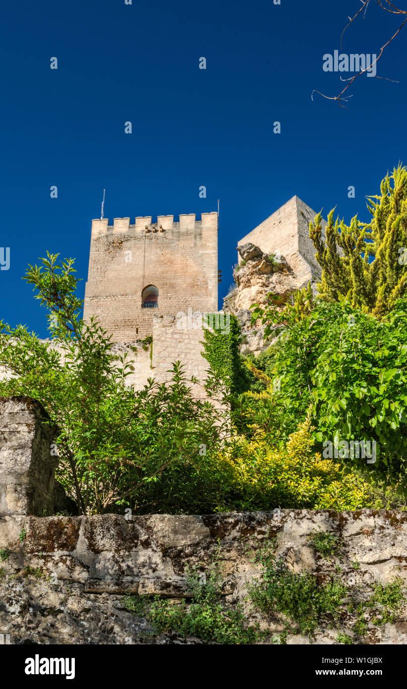 Fortaleza de la Mota, Moorish fortress, 13th century, in Alcala la Real, Jaen province, Andalucia, Spain - Stock Image