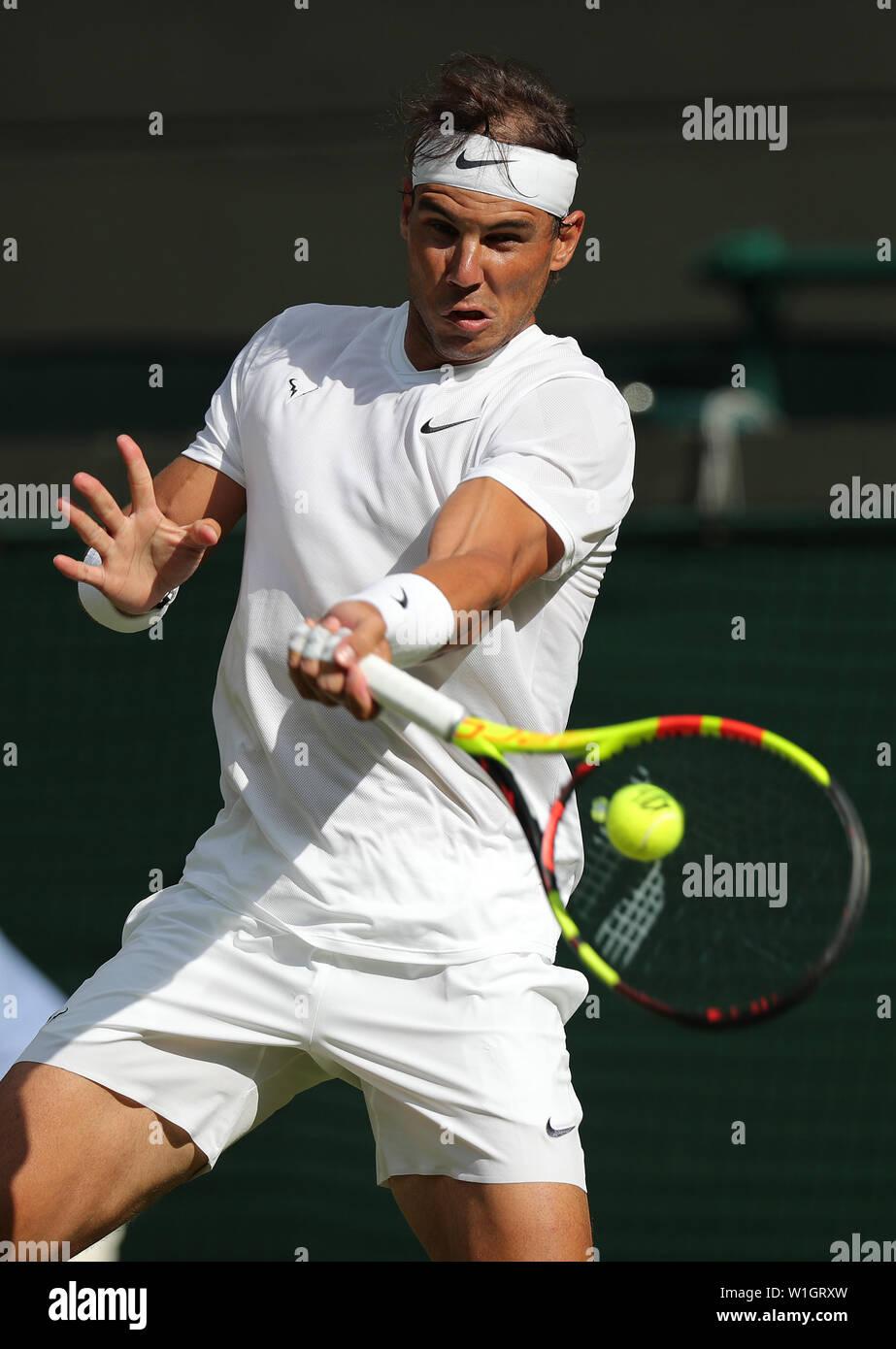 Rafael Nadal 2019 WIMBLEDON Stock Photo