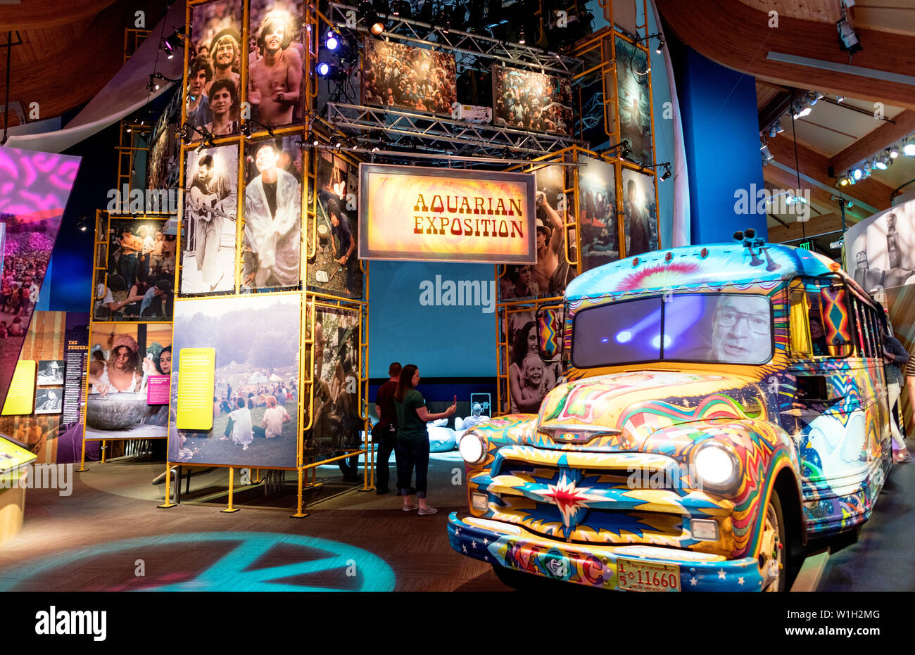 The Museum of the Woodstock Festival at Bethel Woods New York State USA - Stock Image