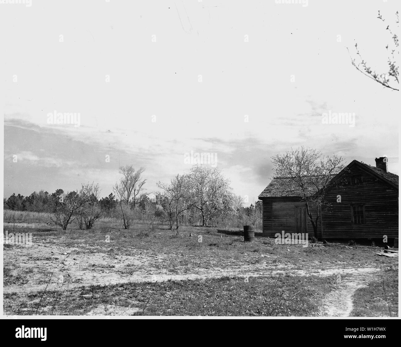 Newberry County, South Carolina  A temporary farm, bare and