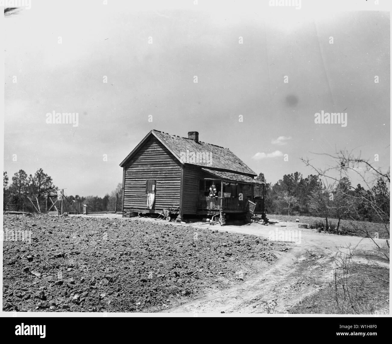 Newberry County, South Carolina  Temporary home and farm on