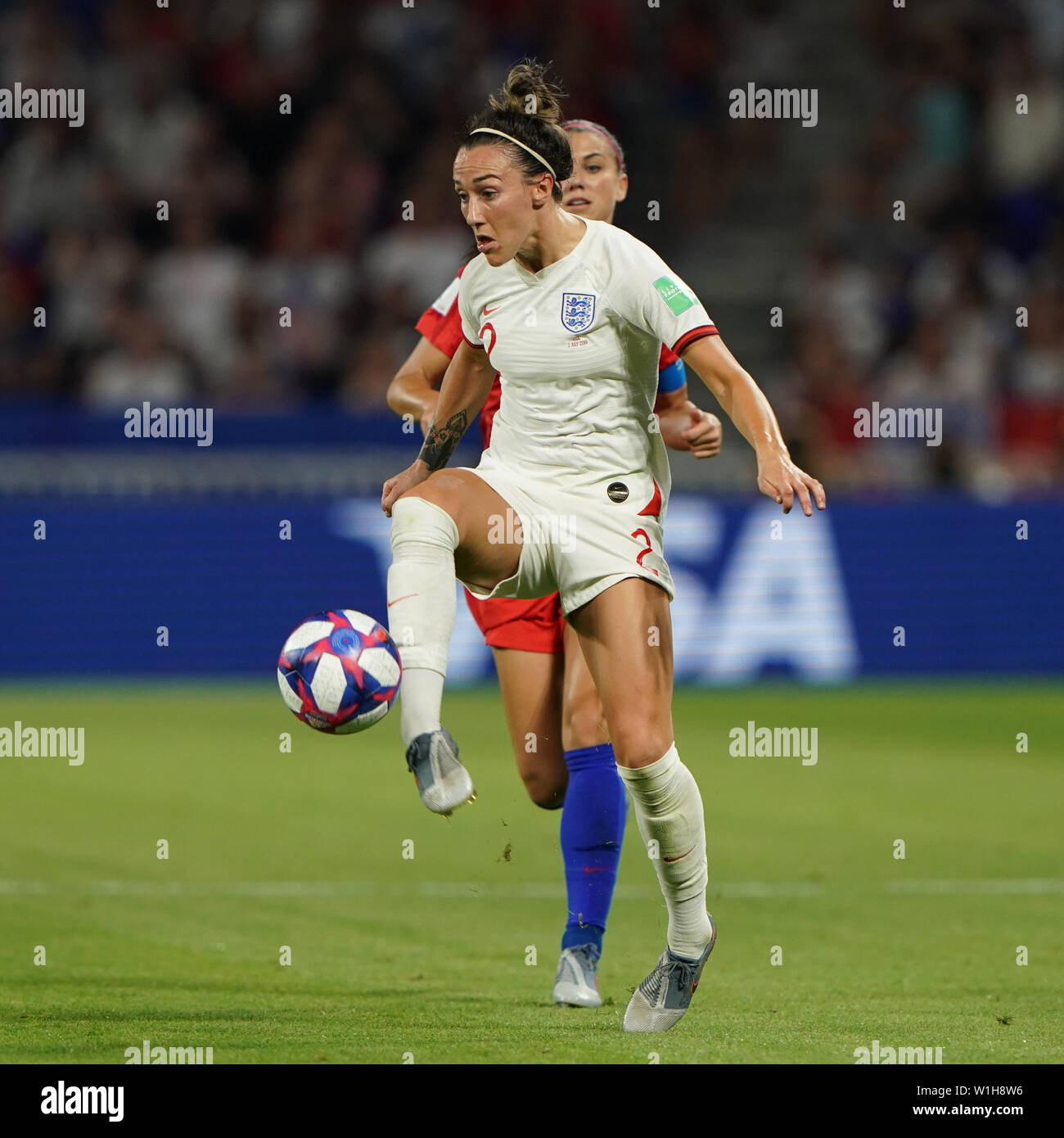 2 july 2019 Lyon, France FIFA World Cup Women 2019 England v USA   Lucy Bronze of England Stock Photo