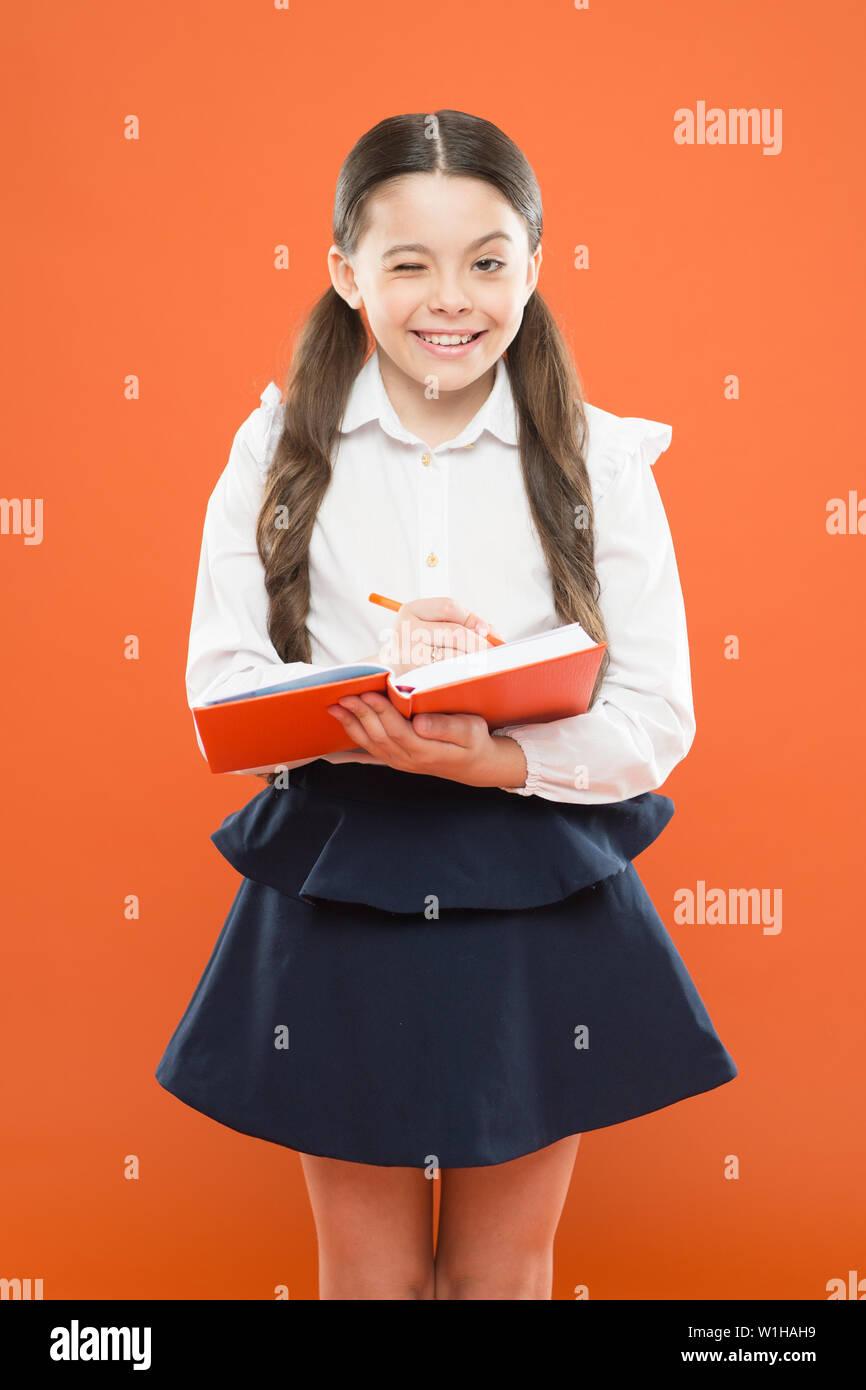 Girl school cute Cute little
