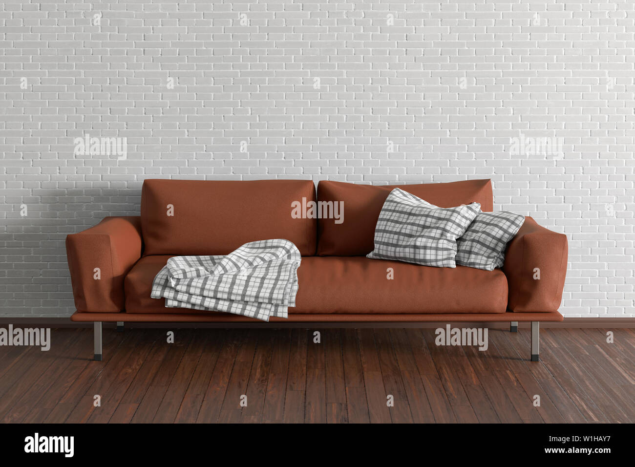 Miraculous Brown Leather Couch In Interior Of Living Room With Wooden Gmtry Best Dining Table And Chair Ideas Images Gmtryco