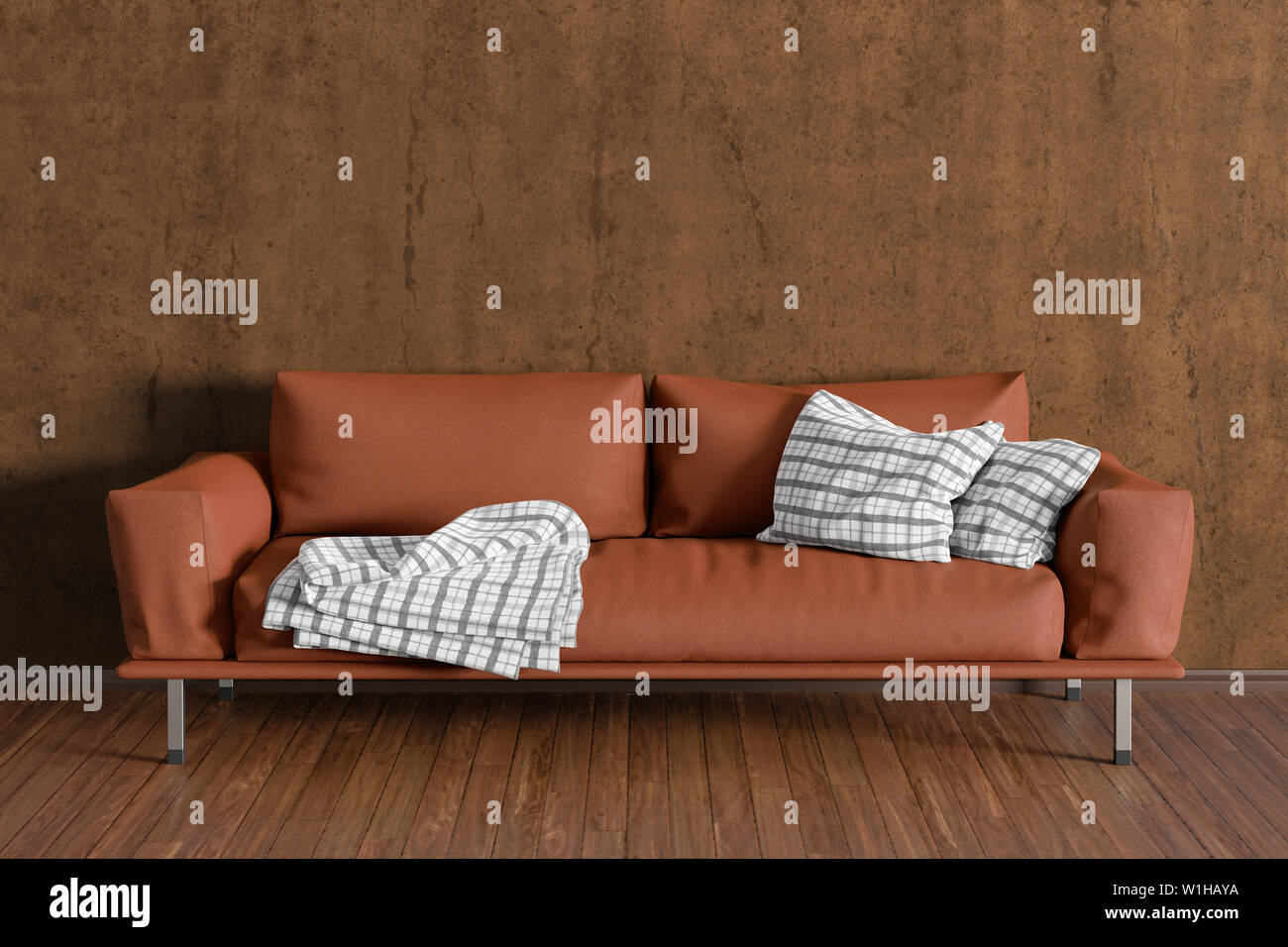 Remarkable Brown Leather Couch In Interior Of Living Room With Wooden Gmtry Best Dining Table And Chair Ideas Images Gmtryco