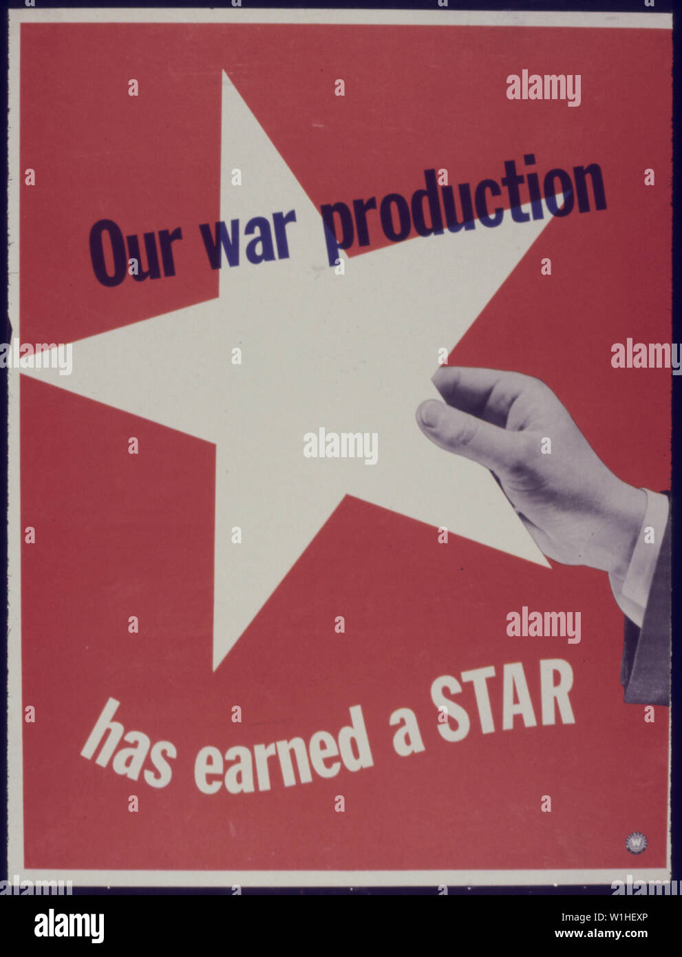 Our War Production has earned a Star - Stock Image