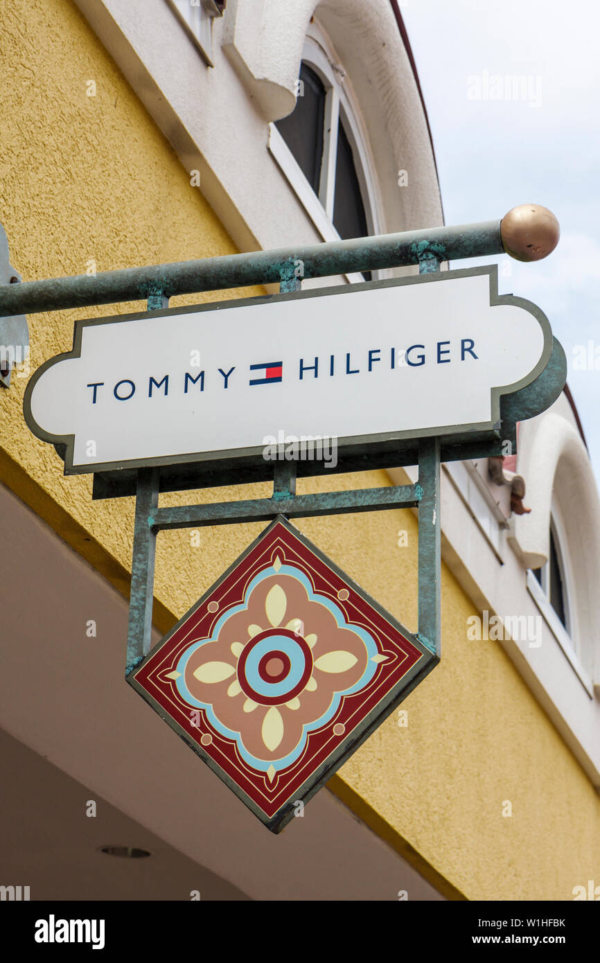 89c9590e Naples Florida Estero Miromar Outlets Store business Tommy Hilfiger brand sign  signage exterior logo shopping -
