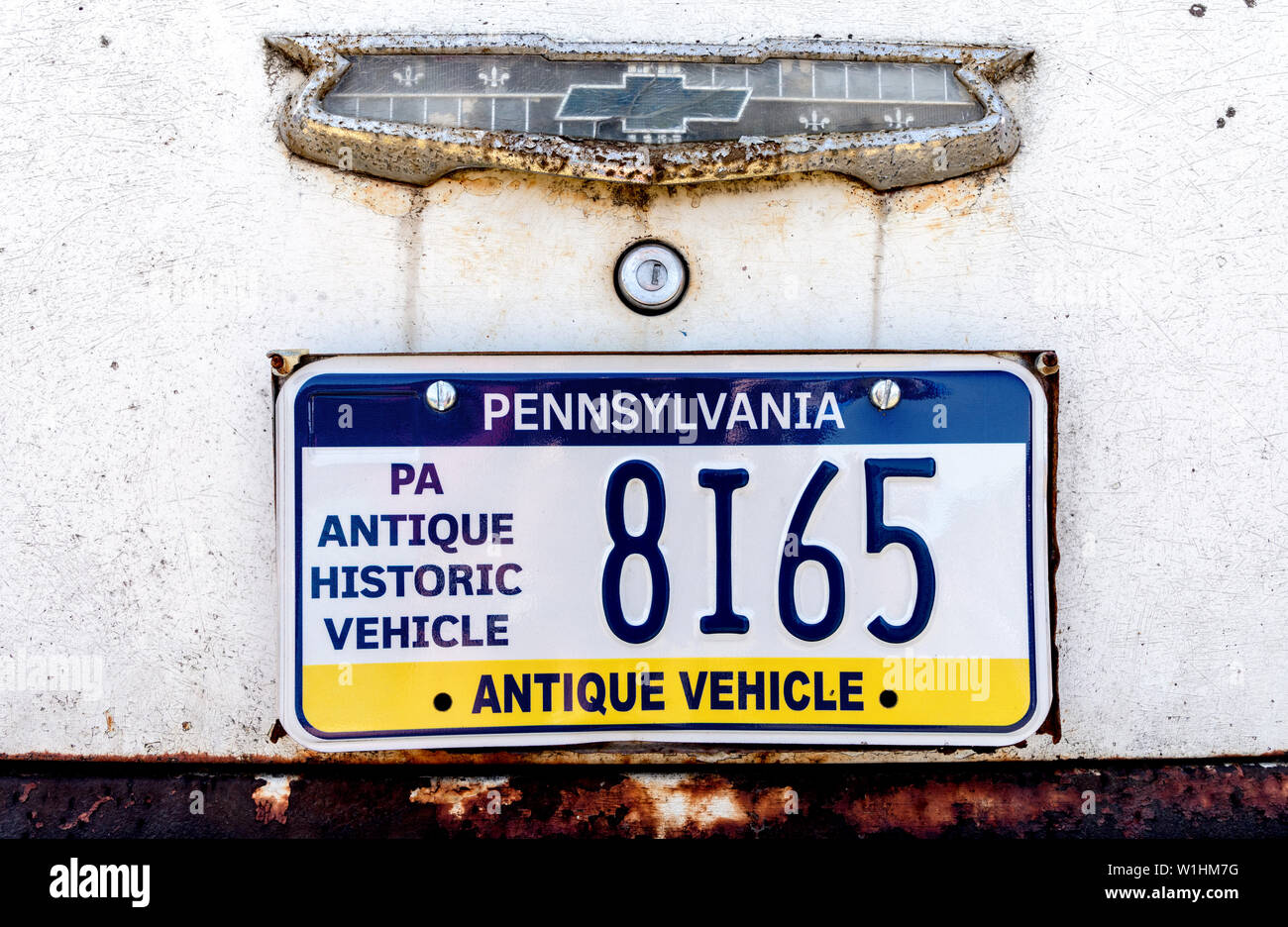 Chevrolet Historic Vehicle Plate New York USA Stock Photo