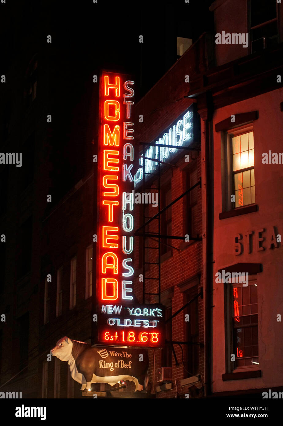 Old Homestead Steakhouse In The Meatpacking District Of Nyc Stock Photo Alamy