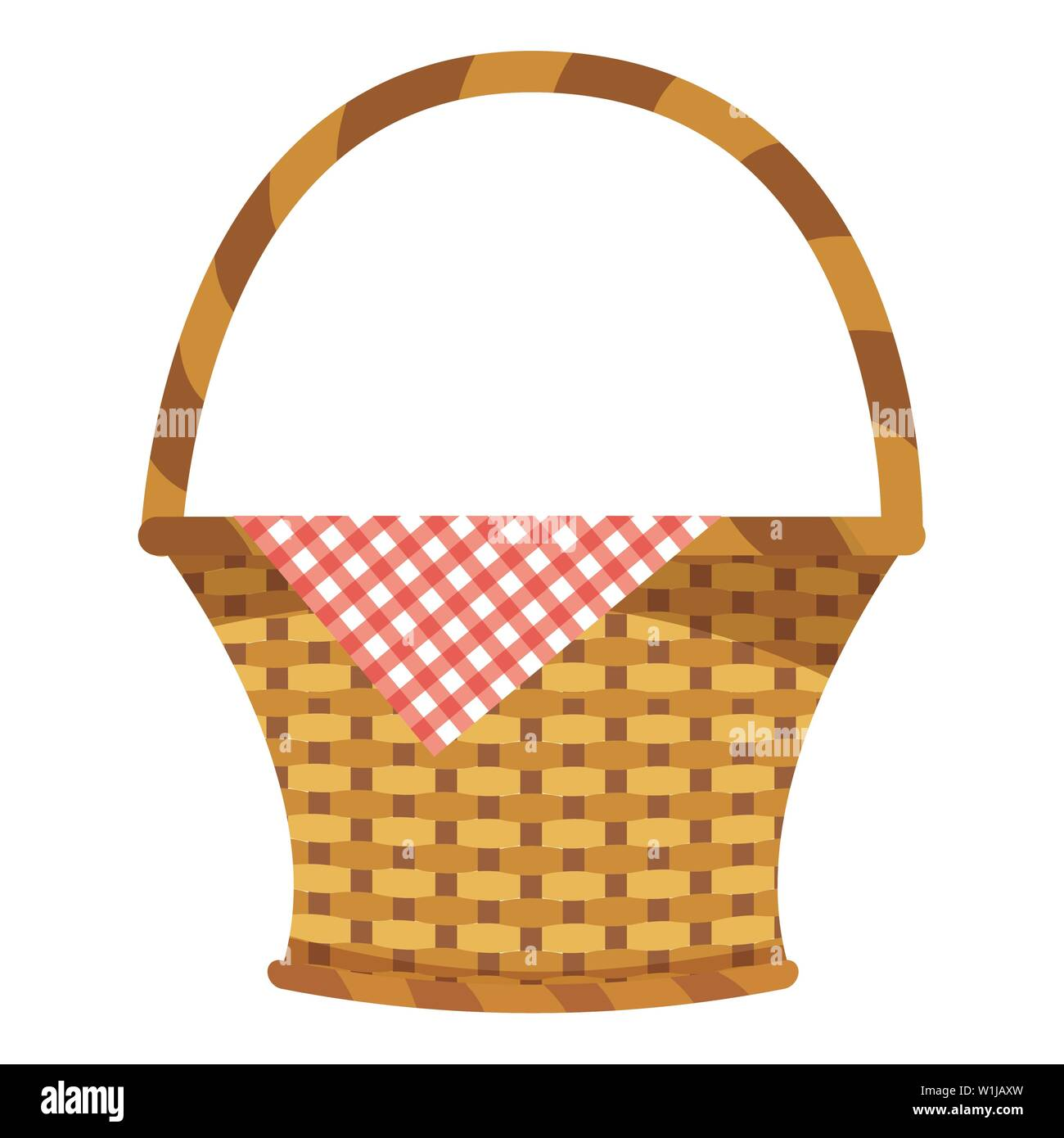 Picnic basket design, Food summer outdoor leisure healthy spring lunch and meal theme Vector illustration - Stock Vector