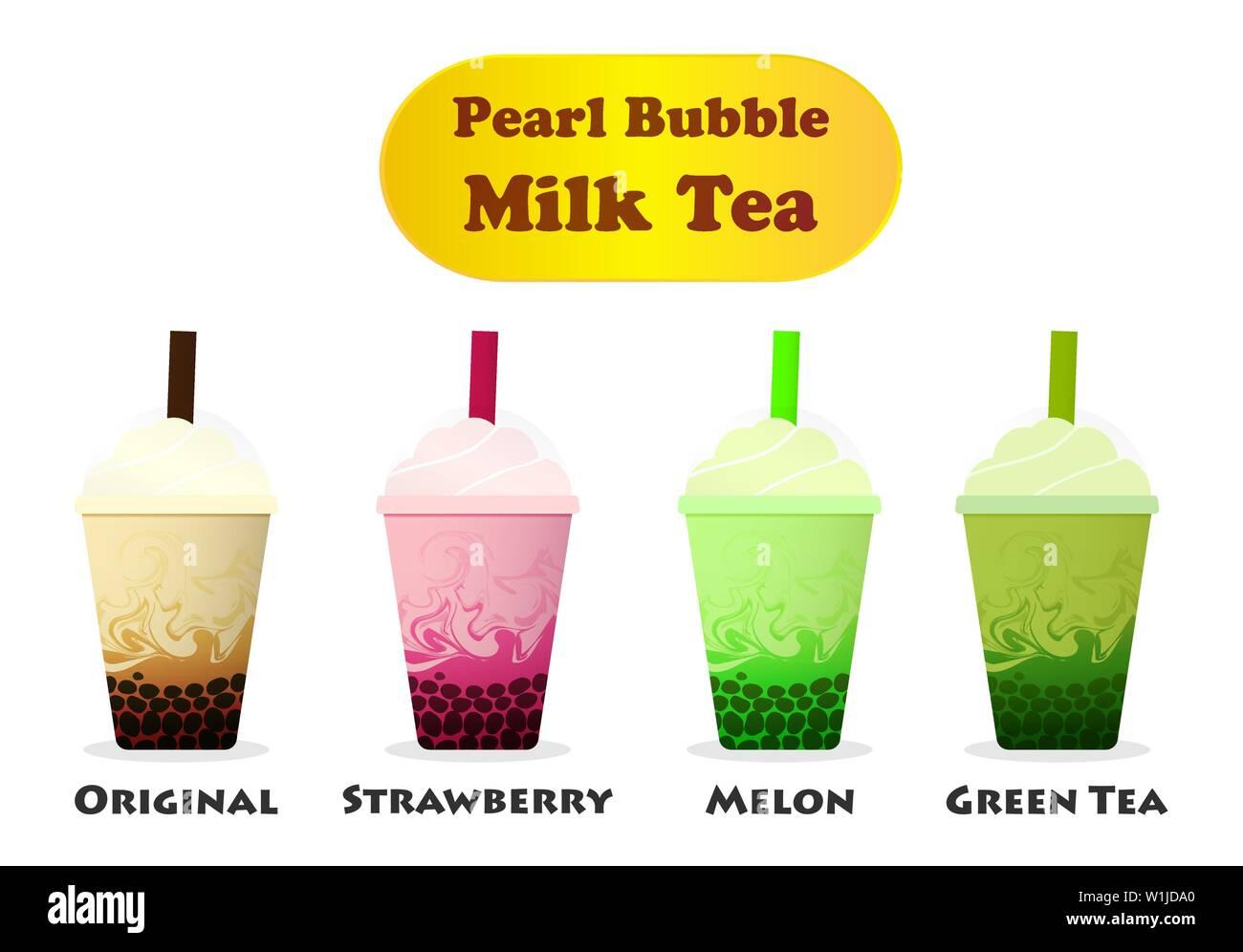 side view pearl bubble milk tea on white vector art stock vector image art alamy https www alamy com side view pearl bubble milk tea on white vector art image259175784 html
