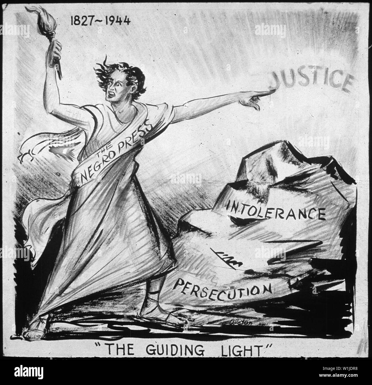 THE GUIDING LIGHT; Scope and content:  The Negro Press. - Stock Image