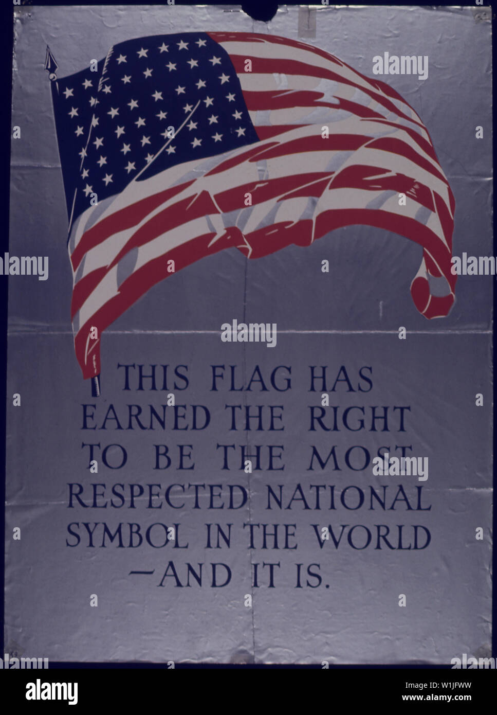 THIS FLAG HAS EARNED THE RIGHT - Stock Image