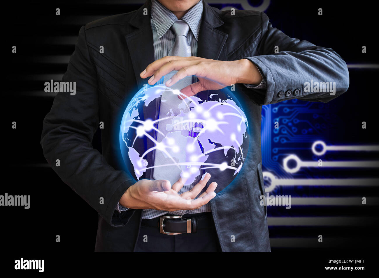 Business technology leader - Stock Image