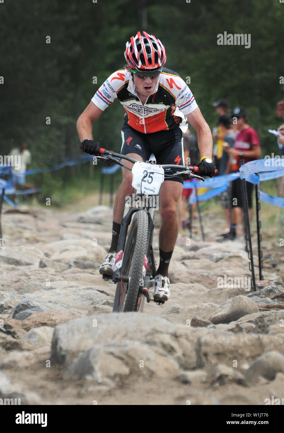 9a6cd2f1024 U.S. Cross Country Ski Team athlete Tad Elliott cruises through the rock  garden at the USA