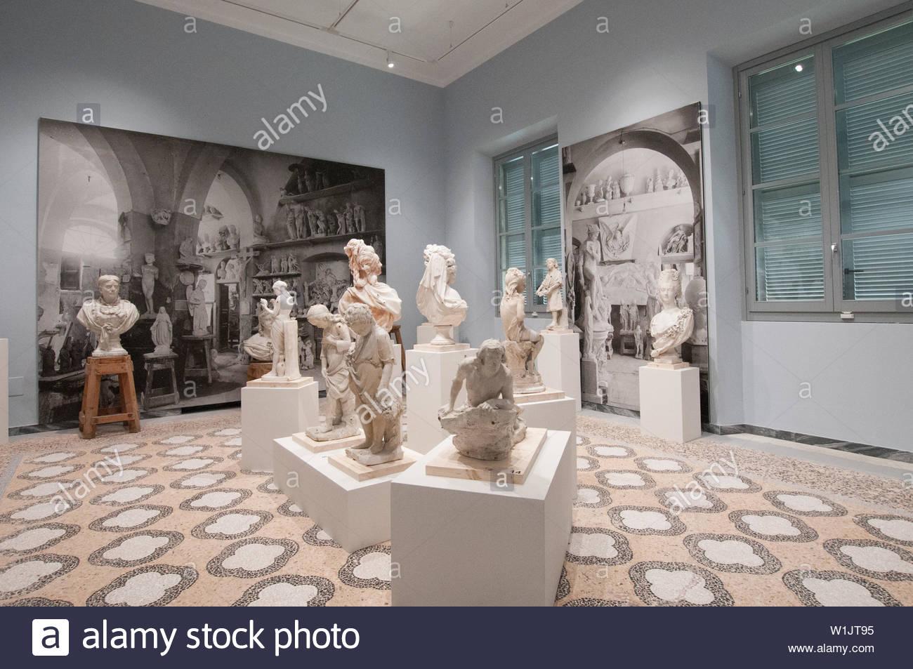 carmi, carrara and michelangelo museum, villa fabbricotti in padula, carrara, tuscany, italy Stock Photo