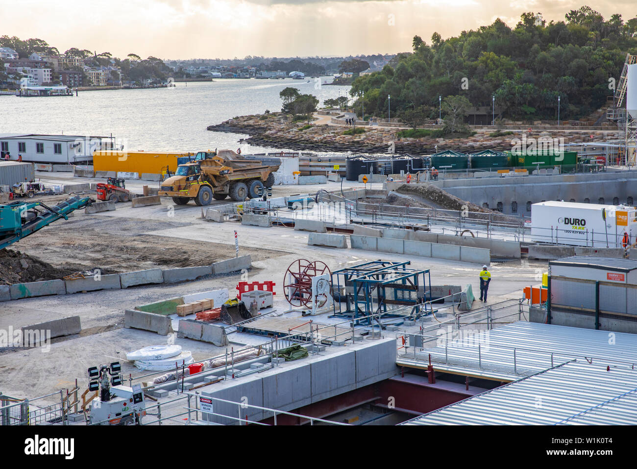 Sydney, construction work at Barangaroo in Sydney city centre,Australia - Stock Image