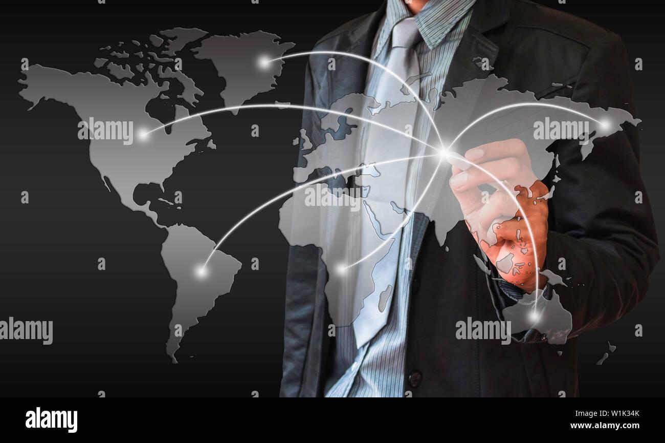Business map world - Stock Image