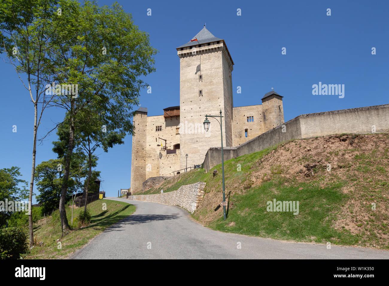 View of 14th century Mauvezin Castle (Chateau de Mauvezin) in Hautes-Pyrenees, France Stock Photo