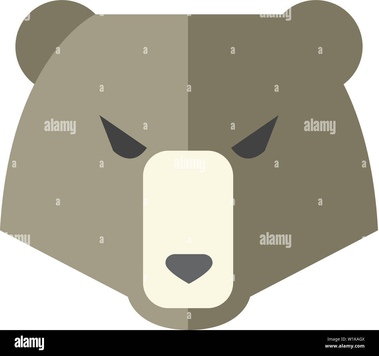 Bear icon in flat color style. Finance, speculation, trend Stock Vector