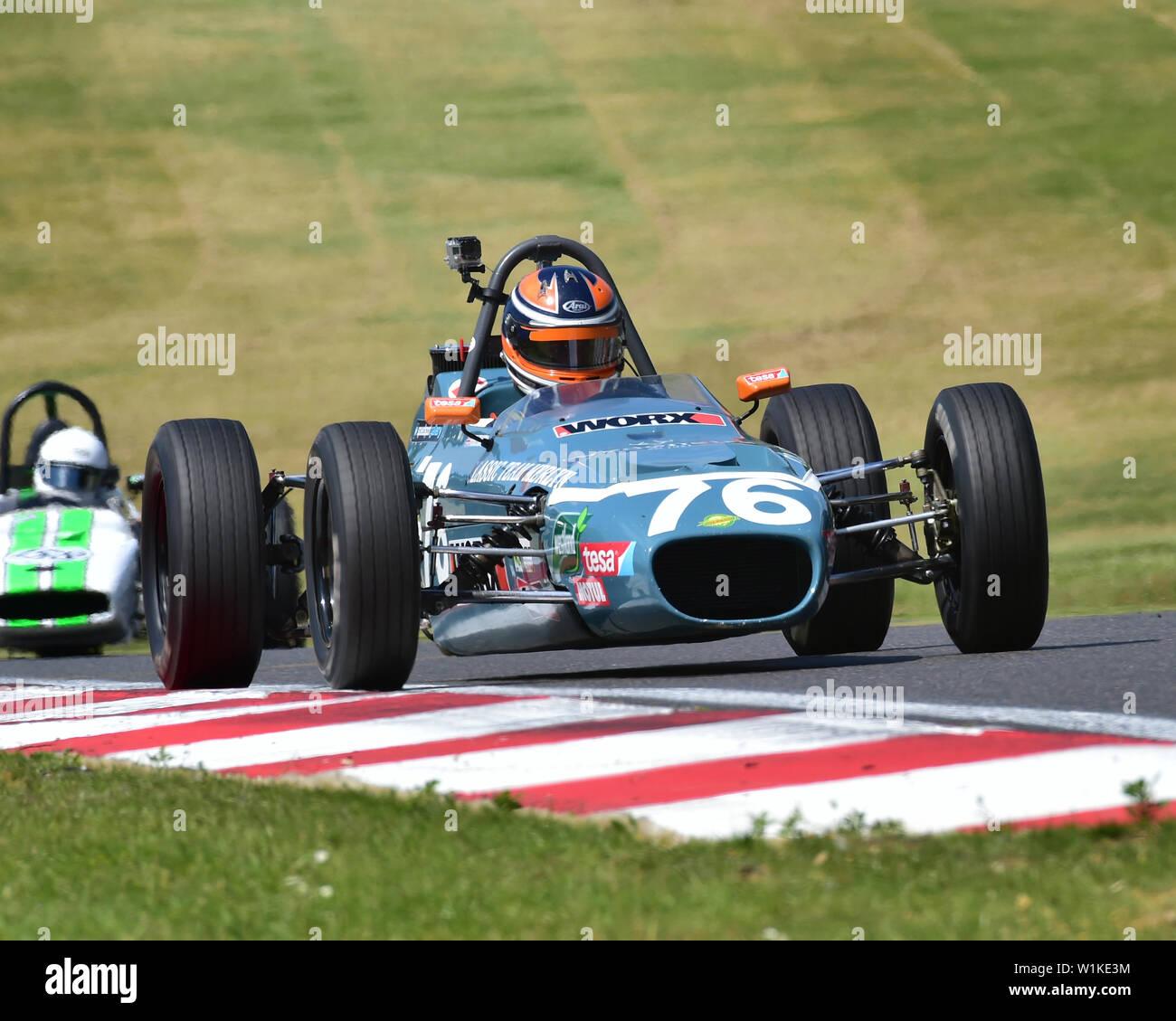 Pierre Livingston, Merlyn Mk20A, HFF, Historic Formula Ford, Legends of Brands Hatch SuperPrix, Brands Hatch, June 2019, Historic Formula Ford Champio - Stock Image