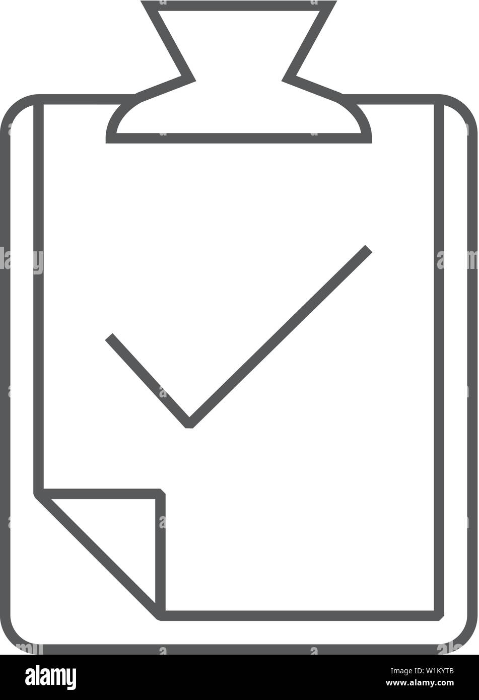 Checkmark icon in thin outline style  Events organizer