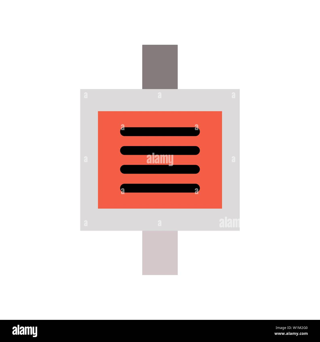 blood icon. flat illustration of blood vector icon for web. Perfect use for website, pattern, app, etc. - Stock Image