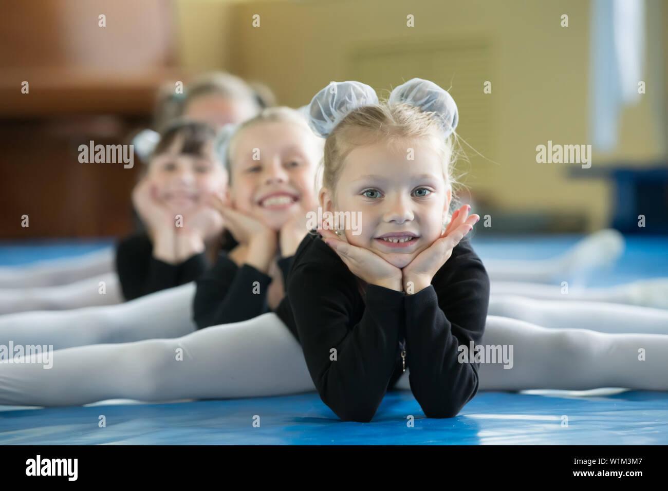 Girl Gymnast 6 Years Stock Photos & Girl Gymnast 6 Years Stock