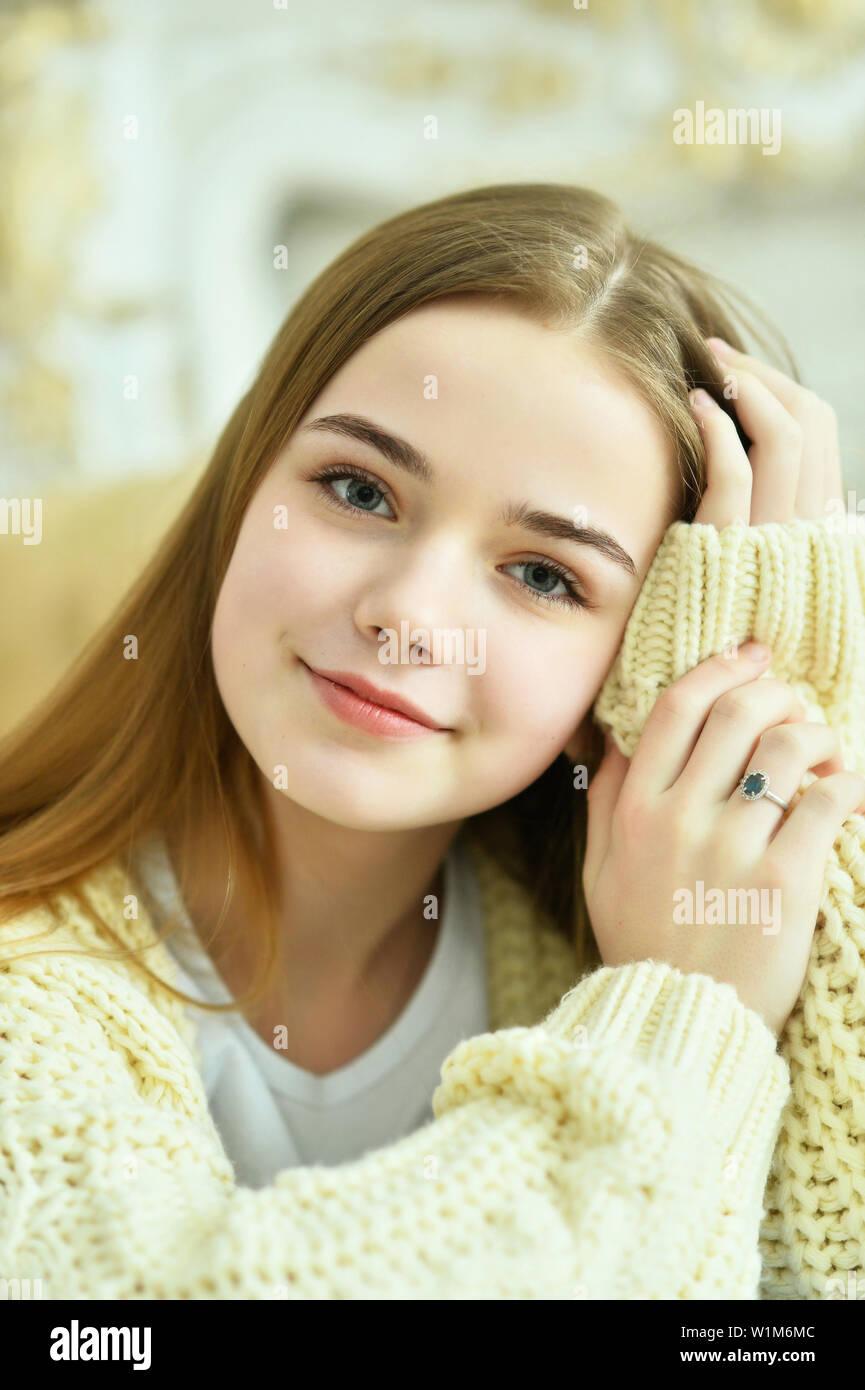 Close up portrait of beautiful teen girl Stock Photo ... on Beautiful Teen  id=79353