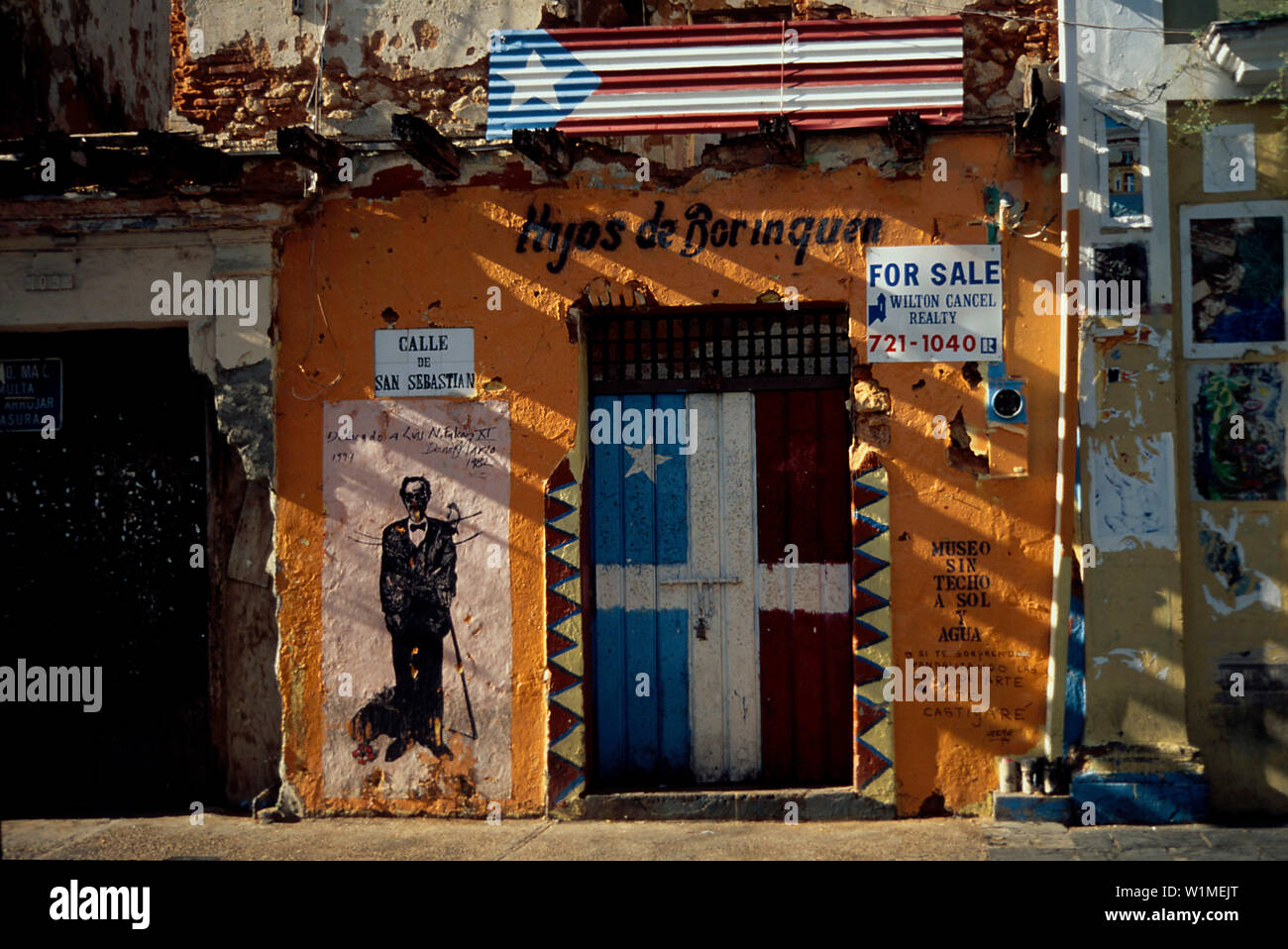 Facade, real estate for sale, Old Town, San Juan, Puerto Rico