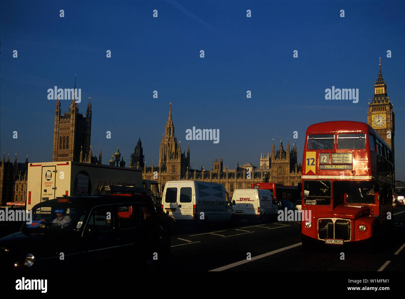 Houses of Parliament, Themse, London England - Stock Image
