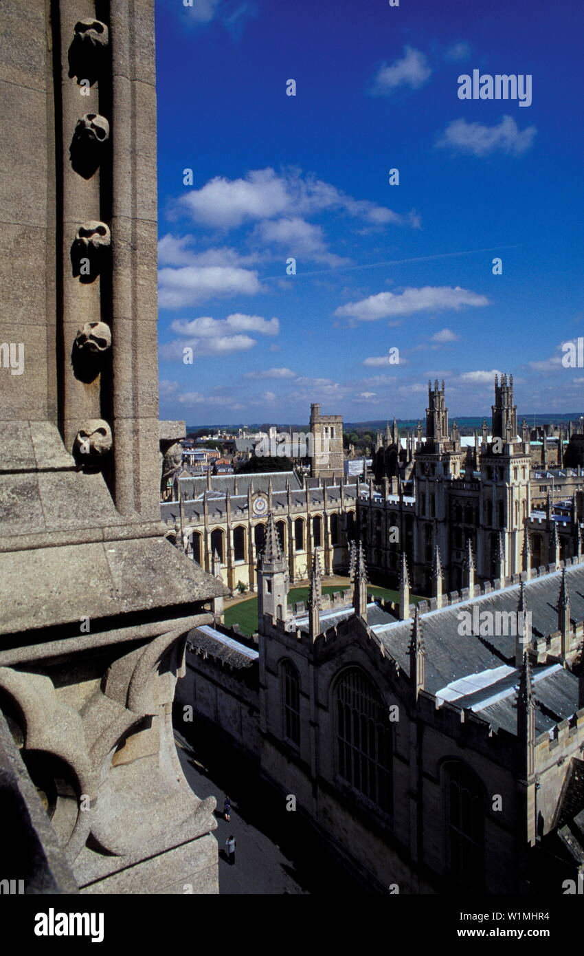 View from St. Marys Church, Oxford Europe, England - Stock Image