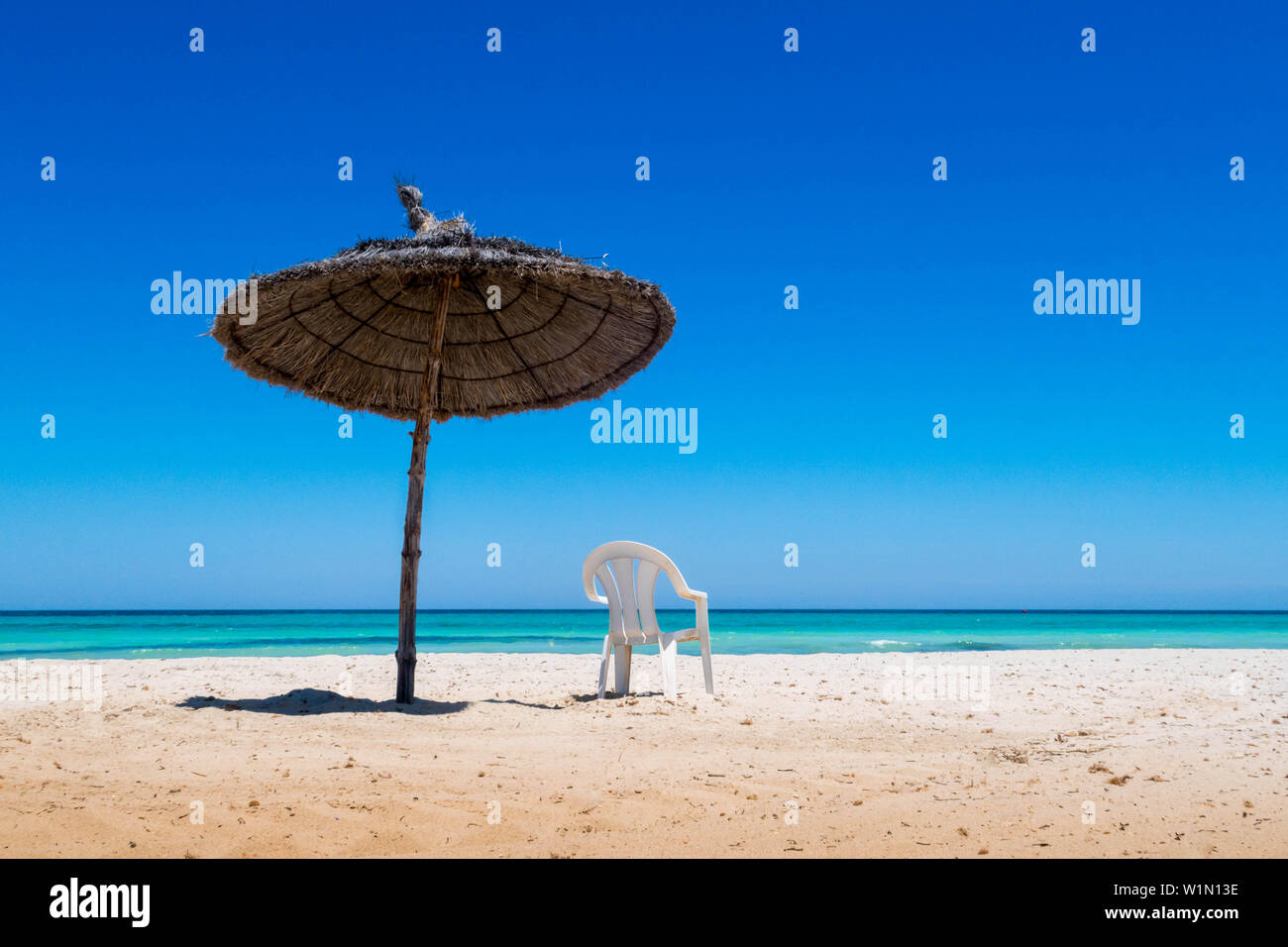 Tunesia Beach - Stock Image