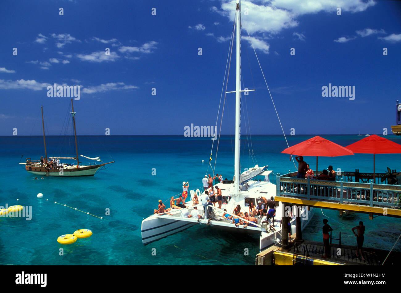 Party im Margueritaville, Montego Bay, Jamaica Karibik Stock