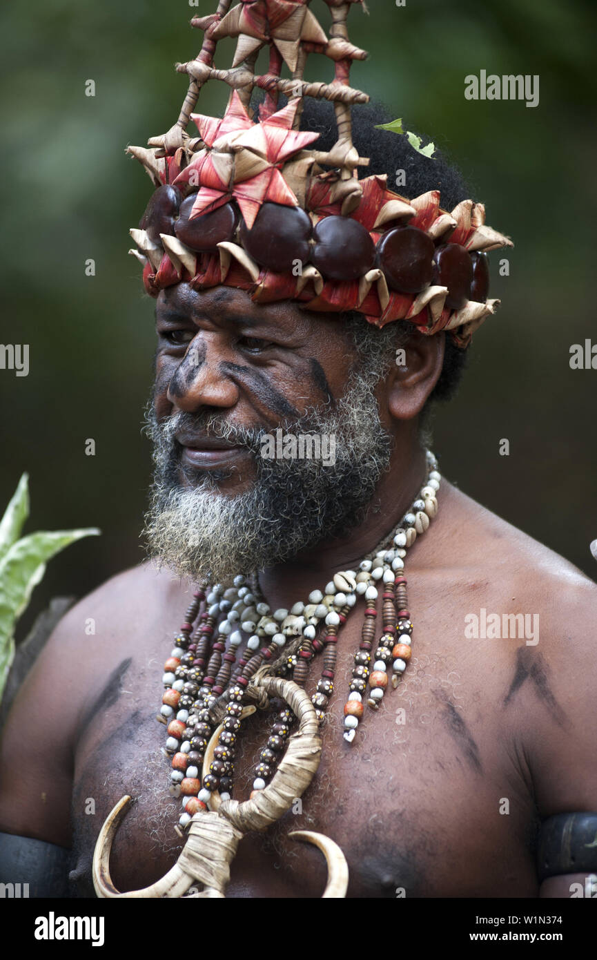 Traditional life at the Iarofa Cultural Village on the island of Efate - Stock Image