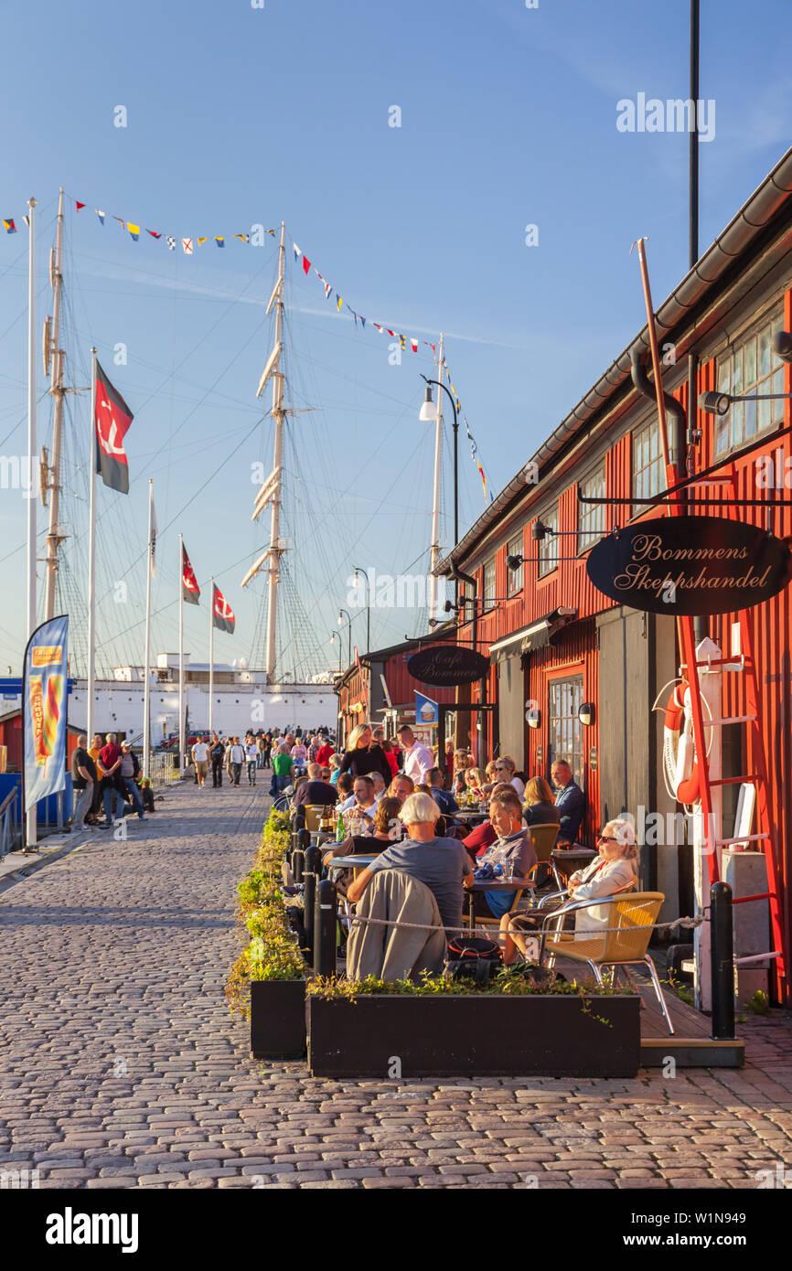 Cafe Bommen In The Harbour Lilla Bommen Gothenburg Bohuslan Gotaland Vastra Gotalands Lan South Sweden Sweden Scandinavia Northern Europe Eur Stock Photo Alamy