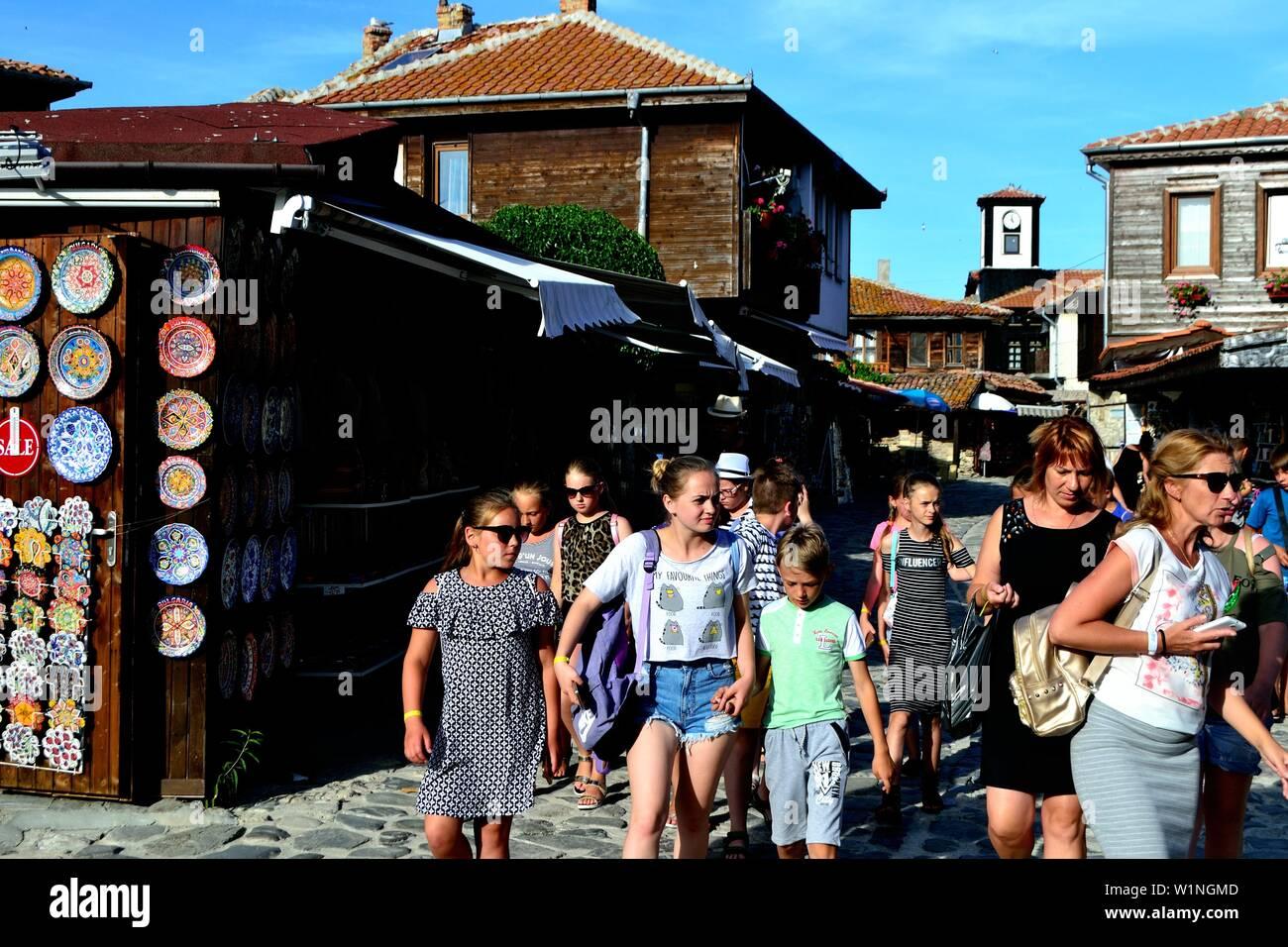 Market in NESSEBAR -  Black Sea - BULGARIA - Stock Image