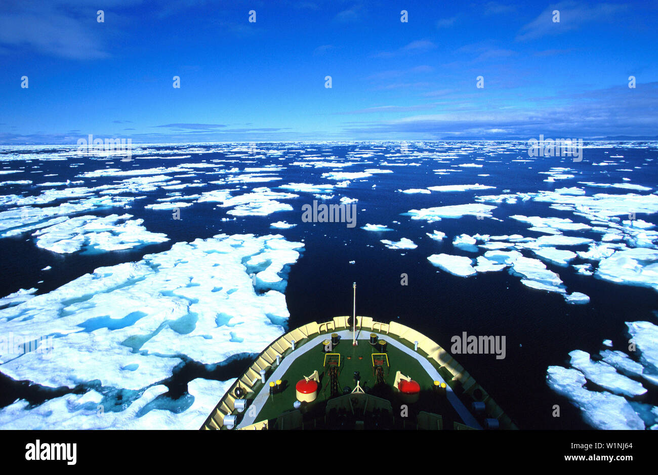 Eisbrecher, Kanadische Arktis, Nunavut Kanada NWT - Stock Image
