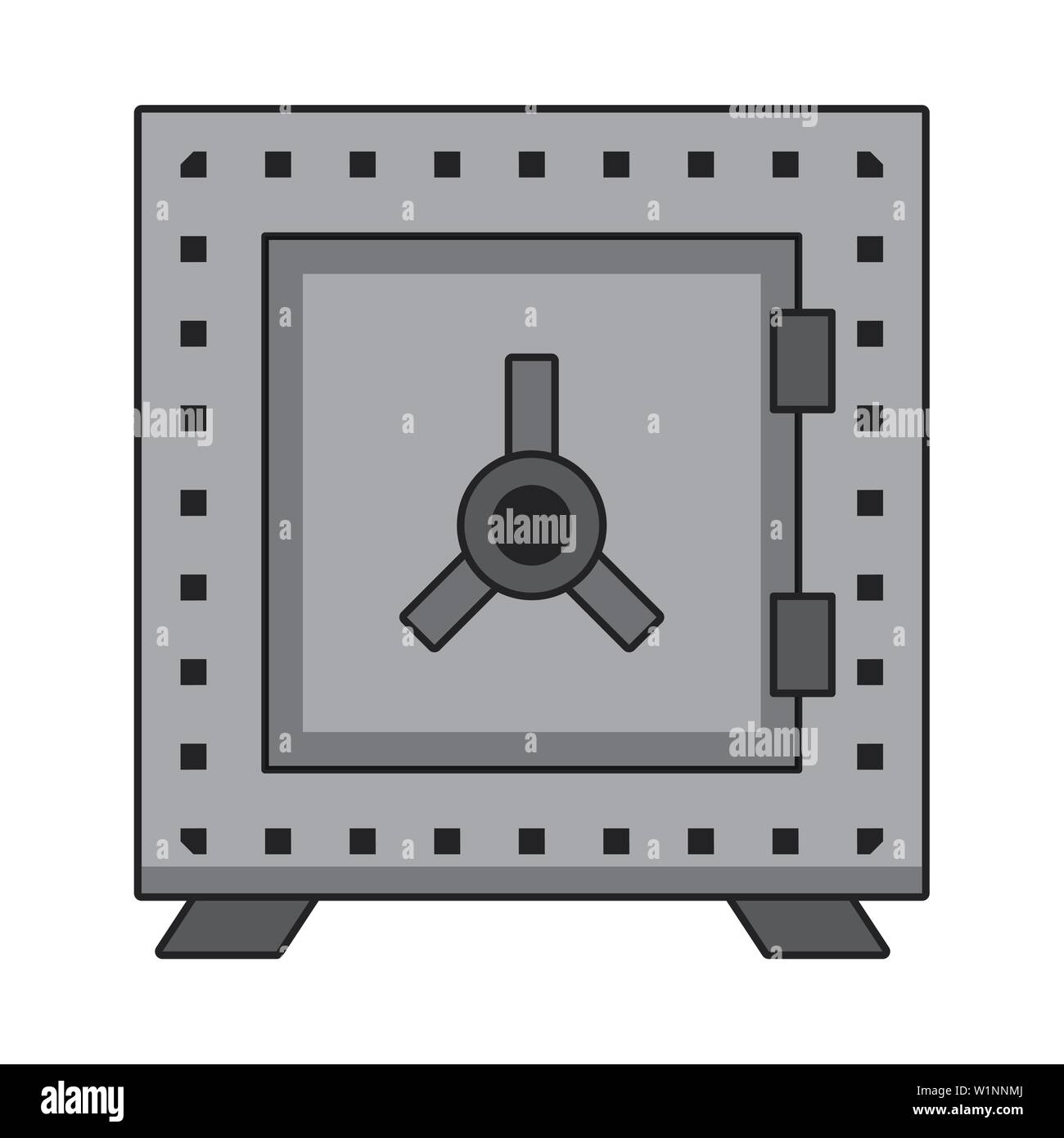 Strongbox money savings security symbol - Stock Image