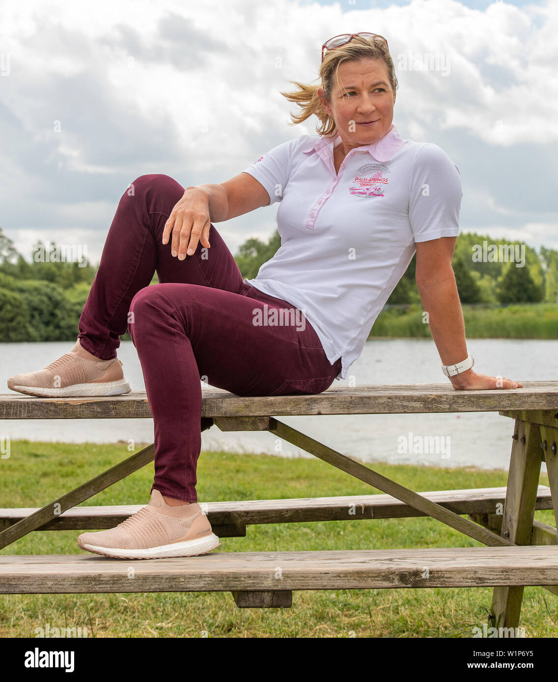 29 june 2019 Heerenveen, The Netherlands Speedskating Training on Summerice  Claudia Pechstein Stock Photo